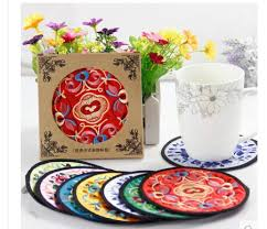 china gifts china embroidery fabric coasters features gifts wind