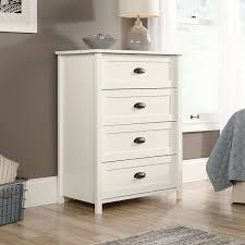Sauder Bedroom Furniture Amazon Com Sauder County Line 4 Drawer Chest With Soft White