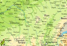 Dijon France Map by Tour Du Morvan
