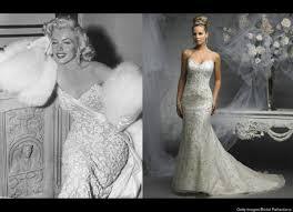 inspired wedding dresses marilyn dresses 5 blond bombshell inspired wedding gowns