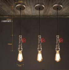 Industrial Looking Lighting Fixtures Loft Style Water Pipe Ls Retro Pendant Light Fixtures Vintage