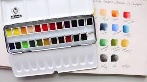 schmincke 24 half pan palette review u0026 swatches youtube