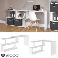 Schreibtisch Schwenkbare Tischplatte Vicco Eckschreibtisch Schreibtisch Levia Weiß Hochglanz Pc Tisch