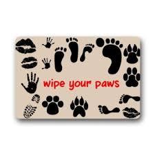 Welcome Mat Wipe Your Paws Buy Custom Welcome Doormats Design Funny Cartoon