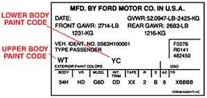 how to find a vehicle u0027s paint code