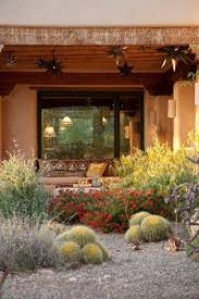 Front Yard Desert Landscape Mediterranean Exterior Xeriscape Garden In Bloom Boxhill Landscape Design Tucson Az