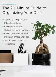 Organize Your Desk by How To Spring Clean Your Desk In 20 Minutes Or Less Career Contessa
