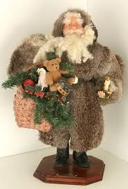 Santa Claus Dolls Handmade - large handmade santa claus recycled fur coat by paul