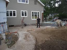 Patio Foundation Concrete Patio Adventures In Remodeling