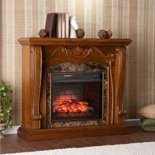 Freestanding Electric Fireplace Walnut Freestanding Adjustable Thermostat Electric