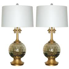 pair of vintage mercury glass lamps in champagne at 1stdibs
