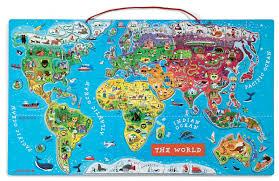 Worl Map Janod Magnetic World Map Spotty Giraffe