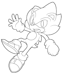 sonic and shadow coloring pages super sonic coloring page by ten heart on deviantart