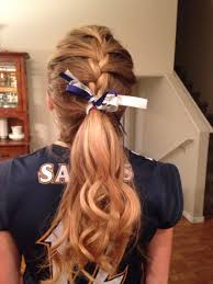 how to style hair for track and field braids this would be cute for volleyball games and track meets