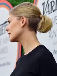 lady neck hair lady nape rosamund pike shaved nape undercut hairstyle undercut