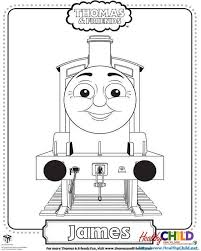 james thomas train coloring pages