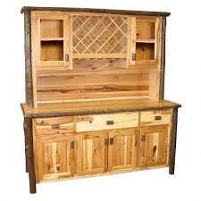 hickory buffet u0026 hutch with wine rack cabin place