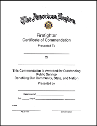 firefighter certificate american legion flag u0026 emblem