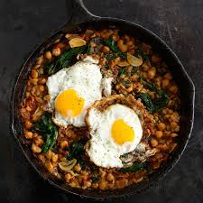 Dinner Egg Recipes Spinach With Chickpeas And Fried Eggs Recipe Epicurious Com