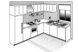 cuisine rectangulaire amenagement cuisine rectangulaire galerie et cuisine implantation