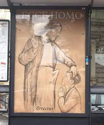 panels appear in rome illustrating blasphemous images of jesus
