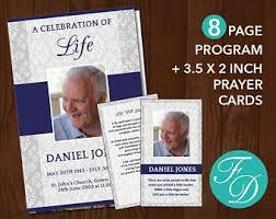 sle of funeral program printable funeral program template printable prayer cards