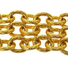 red chain link necklace images Chanel green red gold cc logo glass gripoix chain link necklace jpg