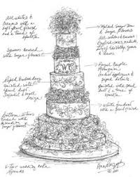 design a cake rustic wedding cake illustration wildflower by beautyinpattern