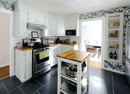 islands for kitchens small kitchens diy small kitchen island on wheels filterstock
