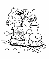 for kids printable coloing train train coloring page