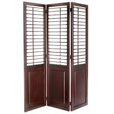 Pier One Room Divider Plantation Espresso Brown Shutter Room Divider Pier 1 Imports