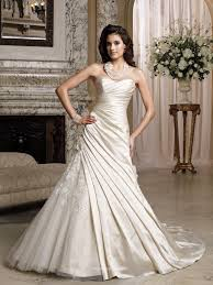draped wedding dress asymmetrically draped satin tulle strapless a line wedding gown