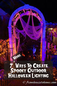 7 spectacular ways to create spooky halloween outdoor lighting
