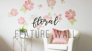 diy flower wall using decals youtube