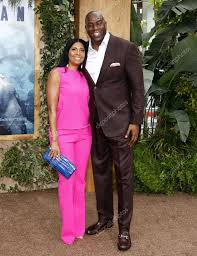 kelli johnson earlitha kelly and magic johnson u2013 stock editorial photo