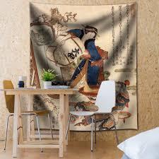 tapestry home decor wall26 katsushika hokusai the strong oi pouring sake fabric