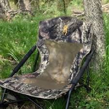 Browning Camping 8525014 Strutter Folding Chair Predator Hunting Chair Folding Hidden Camping Chair Sit Low
