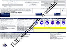 safe work method statements swms u2013 hsema
