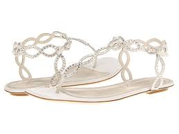 sergio rossi satin mermaid flat sandal in white lyst