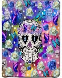 Sugar Skulls For Sale Amazing Deal On Sugar Skull Fleece Blanket 60 X 80 Blue Roses