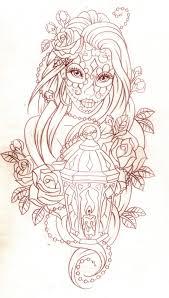 maple leafs n owl tattoo design for women