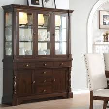 homelegance yates buffet u0026 hutch with mirror back and glass doors