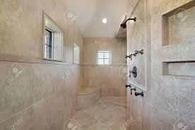 large open air master bath shower with windows stock photo large open air master bath shower with windows stock photo 6732490