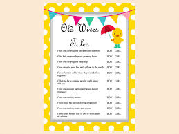 whimsical duck baby shower games magical printable