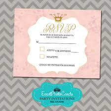 rsvp wording princess theme rsvp gold u0026 pink