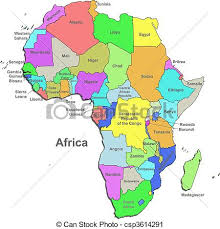 africa map drawing color africa map white vector clip search illustration