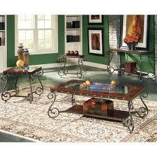 steve silver coffee table steve silver company ellery 3 piece coffee table set in cherry