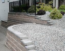 Curved Garden Wall by Retaining Walls Alberto U0027s Exterior Decorating Ltd