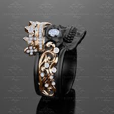 mens rings skull images Castiel noir 39 black gold skull ring jpg