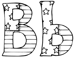 coloring page letter b eson me